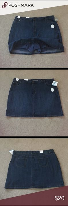 """NWT 2in1 Sexy Mini Denim Skort New sexy and comfy skort. Some stretch to material for added comfort. No one will see your undies in this cute mini. 20"""" waist to bottom. 24""""waist flat. croft & barrow Shorts Skorts"""