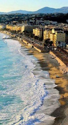 Mediterranean Coast of Nice, France