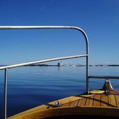 wooden boat, in the archipelago of Rauma Finland