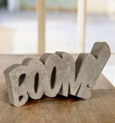 Boom! Concrete Sculpture by HandMadeFont — Designspiration