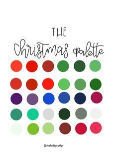 Christmas Palette, Christmas Colour Schemes, Paint Swatches, Color Swatches, Color Palette Challenge, Color Schemes, Color Combos, Color Pairing, Colour Pallette