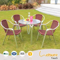 Restaurant Chairs China Outdoor Metal Table And Chair For Rattan Patio Set
