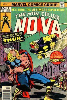 Comic Book Critic - Google+ - Nova #4 (Dec '76) cover by Jack Kirby & Joe Sinnott.