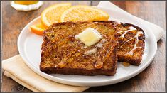 Serves 4  Ingredients:   1/4 cup butter, melted  1 teaspoon cinnamon  2 tablespoons honey  3 eggs  1/2 cup milk  1/2 cup orange juice  2 tablespoons sugar  1 teaspoon grated orange peel  1/4 teaspoon salt  1/4 teaspoon cinnamon  8 slices Country Hearth 100% Wh