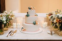 """she offered us a custom cake from Carlo's Bakery for our wedding! It turned out beautiful and delicious, and was a great story to share with our guests."""""""