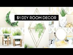 DIY room decor doesn't have to look cheap! In today's video, we'll show you how to transform these simple Dollar Store items into beautiful High-End room dec. Cheap Room Decor, Diy Home Decor Bedroom, Diy Bathroom Decor, Home Decor Wall Art, Dollar Store Crafts, Dollar Stores, Dollar Dollar, Home Design, Design Design