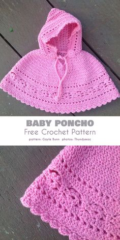 Poncho for Baby and Kid Free Crochet Patterns The beautiful lacy inserts are made on a more solid background, so this little item will keep your little travellers warm and cozy.