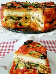 Can't eat meat today? Try this round veggie lasagna from Proud Italian Cook for dinner tonight.