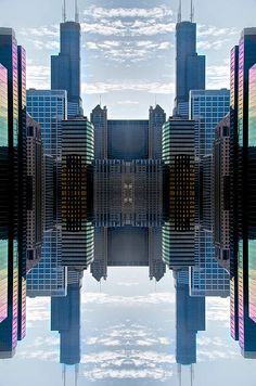 a surreal and abstract interpretation of the Chicago Skyline