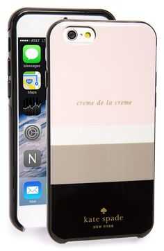 kate spade new york 'crème de la crème' iPhone 6 case available at #Nordstrom