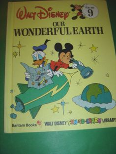 OUR WONDERFUL EARTH ~ WALT DISNEY 1983 HARDCOVER BOOK #Kids #Book
