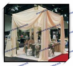 Champagne color  Wedding Reception hall Curtain & wedding canopy stand / pipe structure