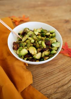Your New Favorite Side Dish ~ Pistachio Date Brussels Sprouts