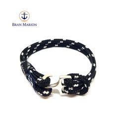 Bran Marion Sailors Black and White Nautical Bracelet Nautical Bracelet, Nautical Jewelry, Marine Rope, Everyday Look, Anklet, Handmade Bracelets, Sailors, Blue And White, Black