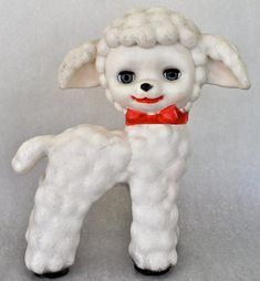Vintage Rubber Lamb Squeaky Toy by HouseVintage on Etsy, $25.00