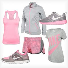 """Matchy Matchy"" by finishline on Polyvore. Wow I want this whole workout outfit so bad."