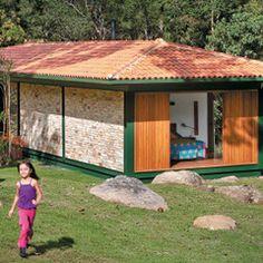Chalé de tijolinhos http://casa.abril.com.br/materia/chale-pequeno-serra-fluminense