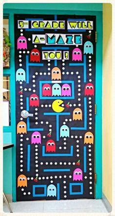 Pac-Man classroom door decoration More