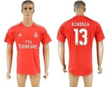Real Madrid #13 K.Casilla Red Goalkeeper Soccer Club Jersey