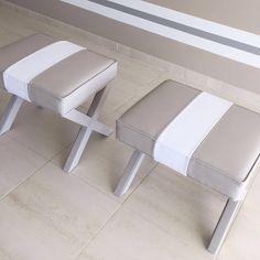 Algarve, Resort Decor, Stripes Bench, Interior Design, Clean, Fresh, Decoration, Decor, Eames Chairs, Living room, Dining room, grey, bege and white - Isabel Pires de Lima