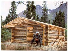 Hand built log cabin