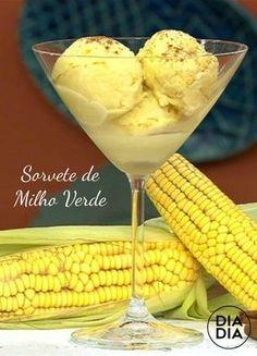 Sorvete de Milho Verde Ice Cream Desserts, Ice Cream Recipes, Gelato Ice Cream, Cake Boss, Diet Drinks, Ketogenic Recipes, Ground Beef Recipes, Sweet Recipes, Sweet Tooth