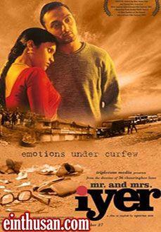 Mr. And Mrs. Iyer Hindi Movie Online - Rahul Bose, Konkona Sen Sharma, Bhisham Sahni, Surekha Sikri and Sunil Mukherjee. Directed by Aparna Sen. Music by Zakir Hussain. 2002[U] w.eng.subs