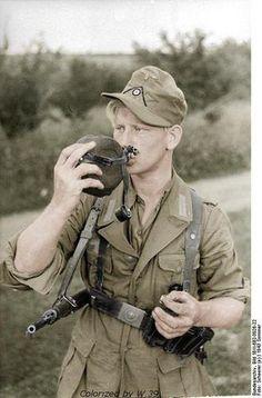 German Soldier in tropical uniform