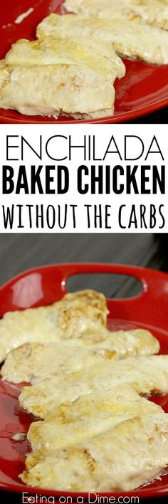 Try this easy low carb recipe, Baked Enchilada Chicken. Enjoy all the flavor of chicken enchilada bake without the carbs. Try baked enchilada chicken today! Chicken Enchilada Bake, Chicken Enchiladas, Enchilada Soup, Easy Healthy Recipes, Low Carb Recipes, Easy Meals, Healthy Eats, Chicken Eating, Baked Chicken
