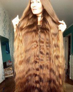 Dashik showing off her healthy, long hair.
