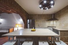 The large kitchen is suitable for cooking lessons and perfect for groups. You can hire a private cook or enjoying cooking by yourself.