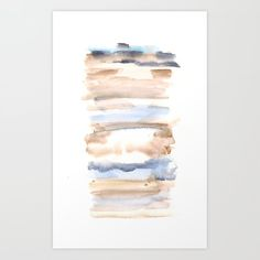 Frozen Summer Series 57 Art Print by valourine... Will you be lucky and get money off? Tap/click to find out! #StretchedCanvas #valourine #painting #watercolor #abstract #minimalism Watercolor Sunset, Watercolor Paintings Abstract, Butterfly Watercolor, Watercolor Pattern, Abstract Canvas, Watercolour Art, Watercolors, Easy Watercolor, Abstract Pattern