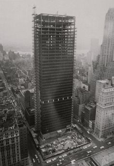 Ludwig Mies van der Rohe with Philip Johnson   The Seagram Building   375 Park Avenue   New York   1958