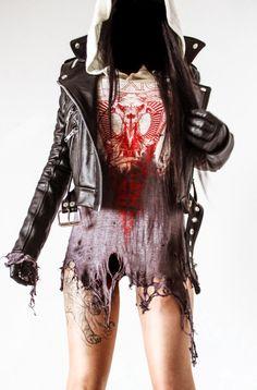 Welcome to Toxic Vision Metal Fashion, Bold Fashion, Punk Outfits, Fashion Outfits, Vision Clothing, Gypsy Crochet, Dystopian Fashion, Apocalyptic Fashion, Post Apocalyptic