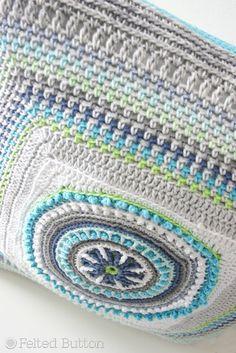 Felted Button - Colorful Crochet Patterns: A Little Pillow Pattern Peek