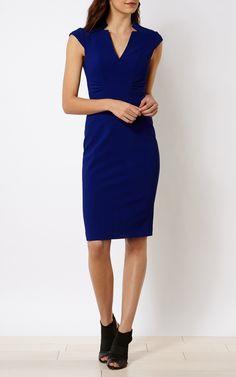 V-NECK DRESS | Luxury Women's work | Karen Millen