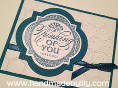 Stampin' Up! Swap - Just thinking - www.handmadebylily.com