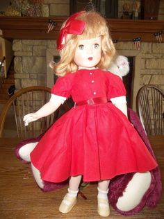 "Gorgeous 1948 Madame Alexander 17"" Wendy Ann Doll All Original 