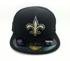 NEW ORLEANS SAINTS NFL NEW ON FIELD ERA 59 FIFTY FITTED HAT/CAP (SIZE 7) -- NEW #NEWERA59FIFTY #NewOrleansSaints
