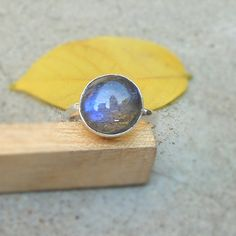 Blue Fire Labradorite 925 Solid silver ring by FineSilverStudio