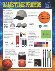 Turn your brand into an MVP (Most Valuable Promo)! Make the next gametime event a slam dunk with these sports-themed and active-lifestyle products.