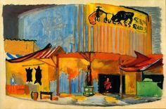 """Лев Бруни  Эскиз декорации к опере Ж.Бизе """"Кармен"""". 1931"""