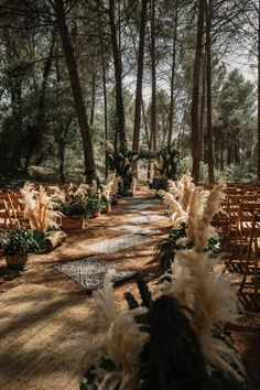 Pampas Grass is the underrated plant that every wedding .- Pampas Grass is the underrated plant that every outdoor wedding needs. # Needs # free # grass # wedding # pampas - Woodland Wedding, Boho Wedding, Dream Wedding, Wedding In Forest, Bohemian Chic Weddings, Enchanted Forest Wedding, Moroccan Wedding, Wedding In The Woods, Vintage Weddings