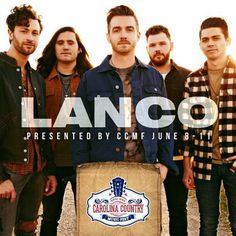 Lanco has been added to the lineup of entertainment for the Carolina Country Music Festival in beautiful Myrtle Beach, South Carolina June 8-11, 2017! | Stay tuned at http://www.visitmyrtlebeach.com/things-to-do/events/carolina-country-music-festival/