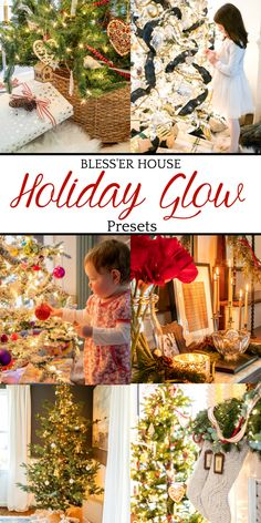 Bless'er House Holiday Glow Preset Launch! - Bless'er House If you want to make your Christmas photos of your home, your tree, and your loved ones surrounded by Christmas lights all glowy and bright to celebrate this special time of year, the Bless'er House Holiday Glow Presets are here to help! #photopreset #christmas photos