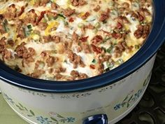 Christmas Morning - Slow Cooker Sausage Breakfast Casserole- perfect, you can wake up to it! A good Christmas morning recipe. Why wait til Christmas?? Sounds good now! - Click image to find more popular food & drink Pinterest pins