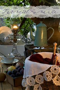Beautiful outdoor kitchen from Mary Jane's Farm B&B