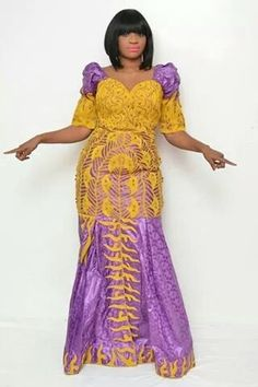 Bazin maxi dress with embroidery por NewAfricanDesigns en Etsy