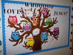 kids bulletin boards for sunday school - Yahoo Image Search Results Sunday School Rooms, Sunday School Classroom, Owl Classroom, Sunday School Lessons, Sunday School Crafts, School Fun, Classroom Ideas, Classroom Organization, Classroom Management