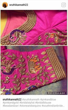 Best Blouse Designs, Saree Blouse Designs, Blouse Patterns, Blouse Styles, Maggam Work Designs, Wedding Saree Blouse, Blouse Models, Work Blouse, Indian Designer Wear